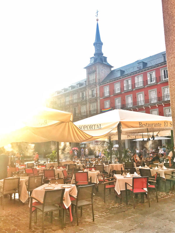 Plaza Mayor in Madrid on Devour Tours Tapas like a Local on eatlivetravelwrite.com