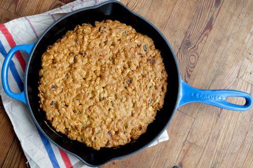 Le Creuset Blueberry Skillet on eatlivetravelwrite.com