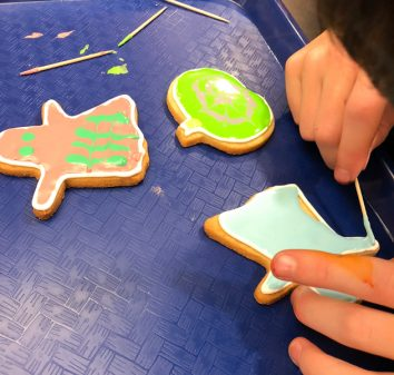 decorating cookies for Halloween 2018 with Adell Shneer on eatlivetravelwrite.com