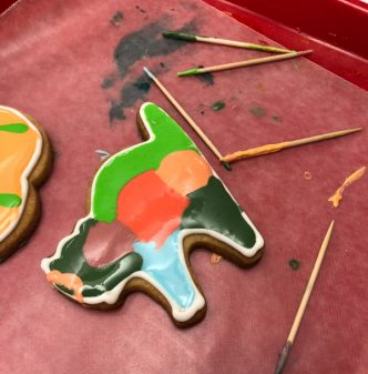 Patchwork cat cookie Halloween 2018 with Adell Shneer on eatlivetravelwrite.com