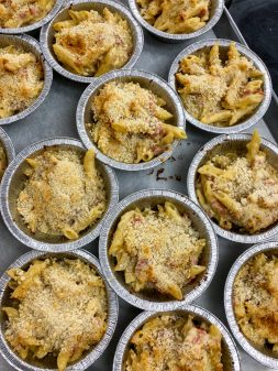 Baked Gratin de Pates au Jambon (Cheesy Pasta Bake) from In the French kitchen with kids on eatlivetravelwrite.com