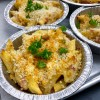 With a little garnish Gratin de Pates au Jambon (Cheesy Pasta Bake) from In the French kitchen with kids on eatlivetravelwrite.com