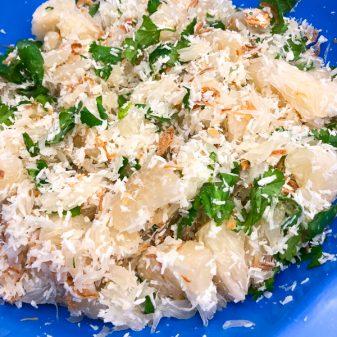 Pomelo salad by Vanessa Yeung of Aphrodite Cooks on eatlivetravelwrite.com