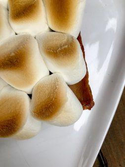 Marshmallow topped pumpkin pie bars from Dorie's Cookies on eatlivetravelwrite.com