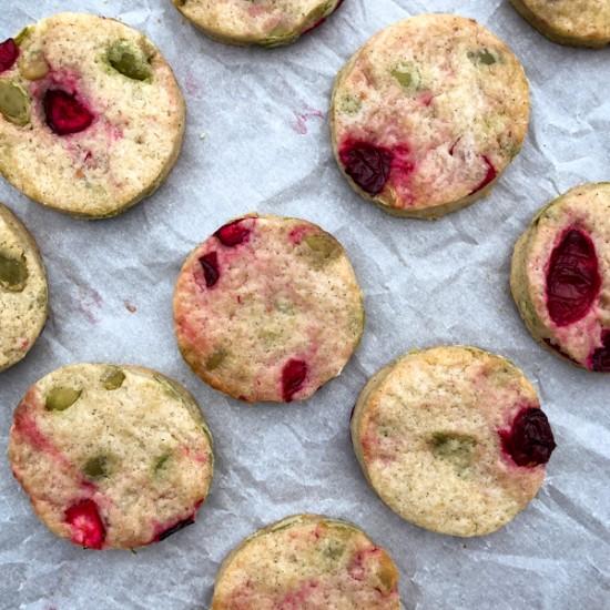 Dorie Greenspan Cranberry Five-Spice Cookies from Dorie's Cookies on eatlivetravelwrite.com