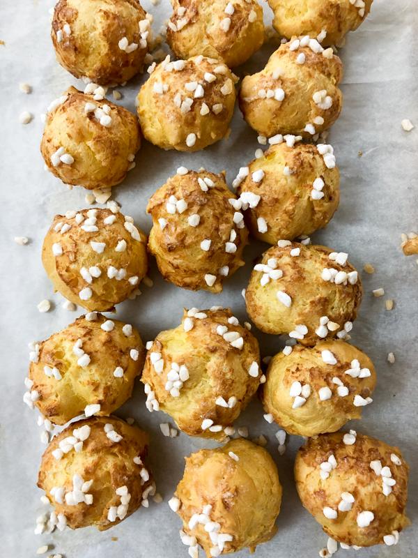 Chouquettes from In the French kitchen with kids on eatlivetravelwrite.com