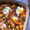Ratatouille with baked eggs on eatlivetravelwrite.com