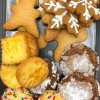 Kids bake cookies for the holidays
