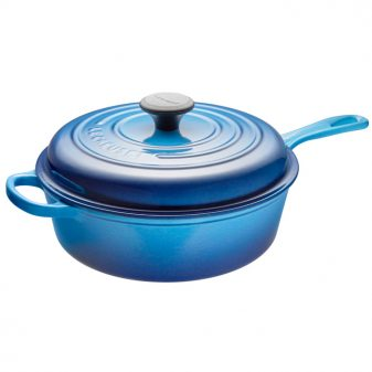 Le Creuset Covered Saute Pan in Blueberry on eatlivetravelwrite.com