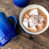 Le Creuset Stoneware Mugs RIch Double Hot Chocolate recipe on eatlivetravelwrite.com