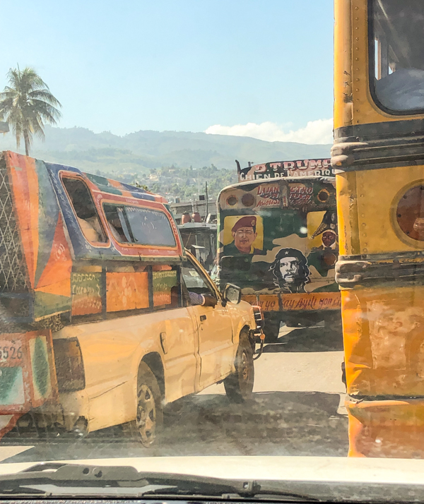 Traffic on the road in Haiti on eatlivetravelwrite.com