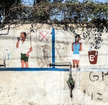 Mural on the road in Haiti on eatlivetravelwrite.com