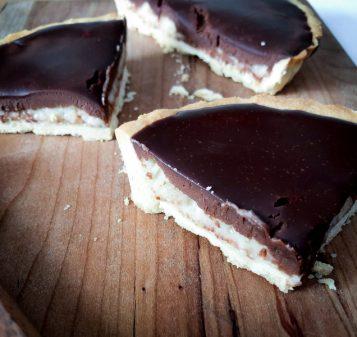 Dorie Greenspan Chocolate-Coconut Tart on eatlivetravelwrite.com