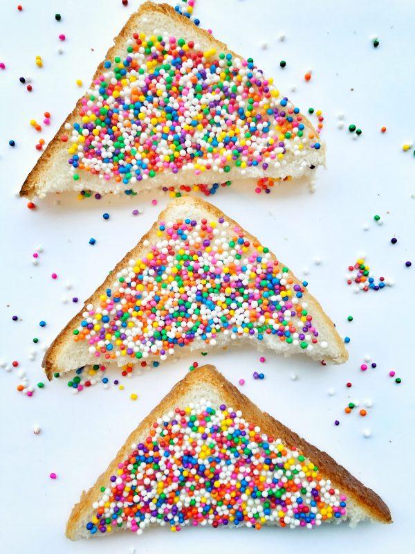 Fairy bread on eatlivetravelwrite.com