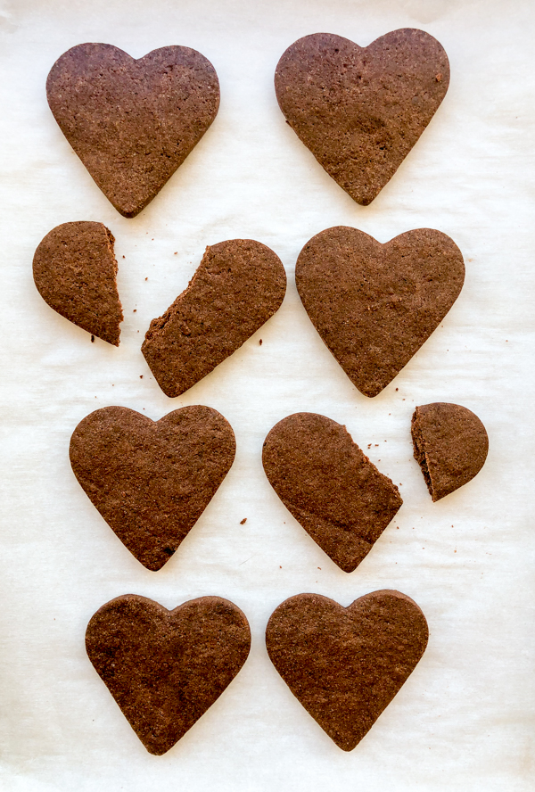 Tray of Dorie Greenspan Smoky Hearts from Dories Cookies on eatlivetravelwrite.com
