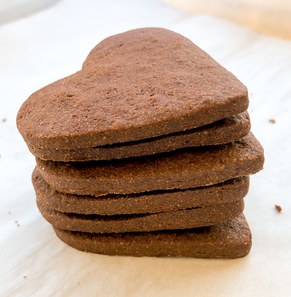 Stack of Dorie Greenspan Smoky Hearts from Dories Cookies on eatlivetravelwrite.com