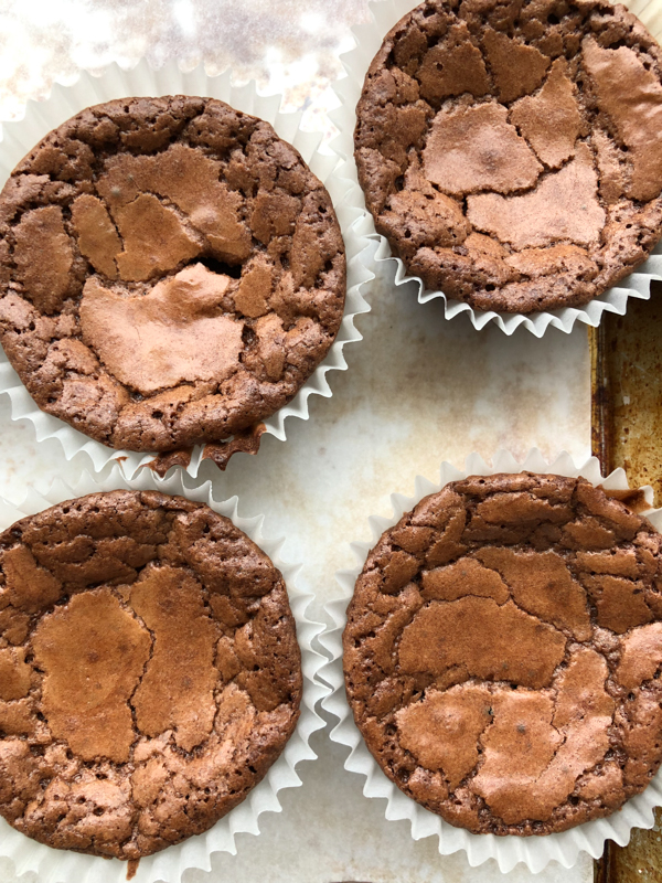 Fudgey chocolate cupcakes unfrosted on eatlivetravelwrite.com