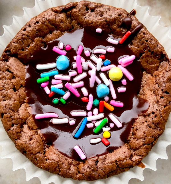 One fudgey chocolate cupcake on eatlivetravelwrite.com
