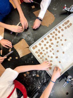 Team work making Apple Cinnamon Crunch Cereal from Brunch LIfe on eatlivetravelwrite.com