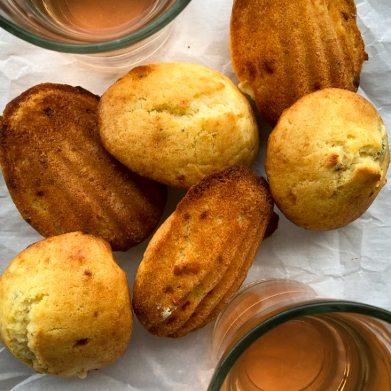 Tuesdays with Dorie Greenspan Honey Blue Cheese Madeleines oneatlivetravelwrite.com