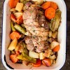 Roasted lamb with braised vegetables from David Lebovitz My Paris Kitchen on eatlivetravelwrite.com