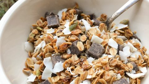 Coconut chocolate granola