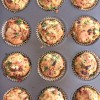 Zucchini, Ham and Goat Cheese Muffins from French Appetizers on eatlivetravelwrite.com