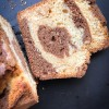 Sliced Dorie Greenspan Double Chocolate Marble Loaf on eatlivetravelwrite.com