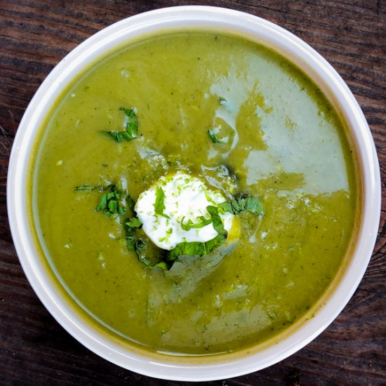 Dorie Greenspan Green as Spring Soup from Everyday Dorie on eatlivetravelwrite.com