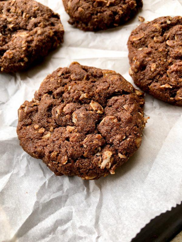 Tuesdays with Dorie Greenspan Chocolate-Oatmeal Biscoff Cookies on eatlivetravelwrite.com