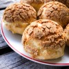 Baking Chez Moi Crackle Top Cream Puffs on eatlivetravelwrite.com