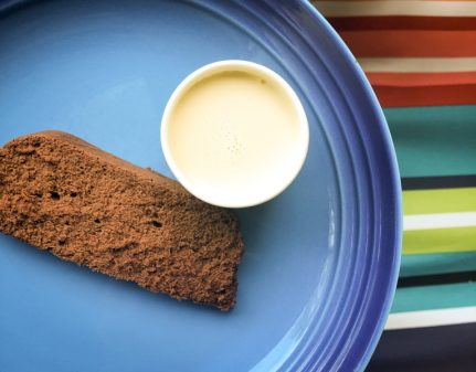 Cook the Book Fridays Chocolate terrine with fresh ginger crème anglaise from My Paris Kitchen