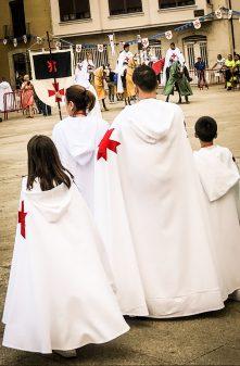 Family at Templar Festival in Ponferrada Walking the Camino de Santiago: El Acebo to Ponferrada with Camino Travel Center on eatlivetravelwrite.com