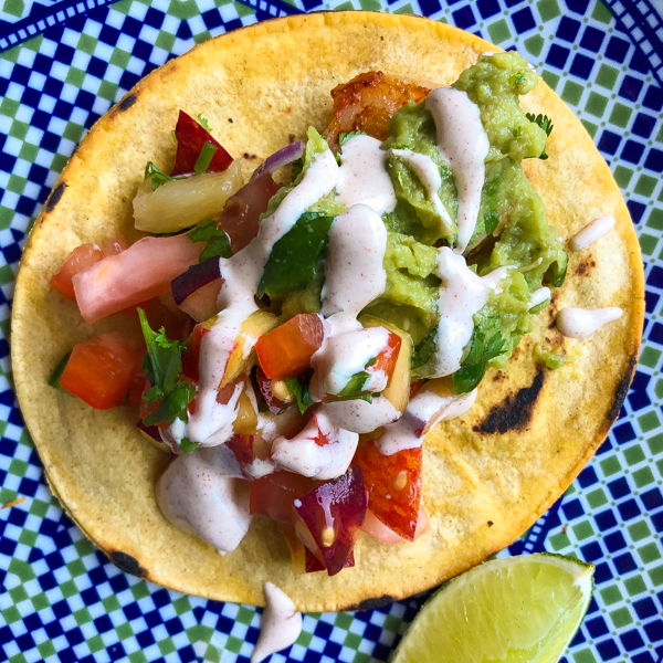Cook the Book Fridays Dorie Greenspan Shrimp Tacos on eatlivetravelwrite.com