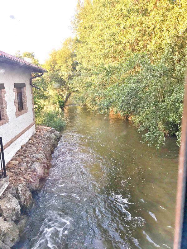River beside Molino Galochas on the Camino on eatlivetravelwrite.com