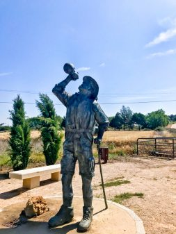 Statue approaching Astorga Walking the Camino de Santiago: Villavante to Astorga wit Camino Travel Center on eatlivetravelwrite.com