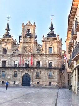 Plaza Mayor in the Morning Walking the Camino de Santiago: Astorga to Rabanal del Camino with Camino Travel Center on eatlivetravelwrite.com