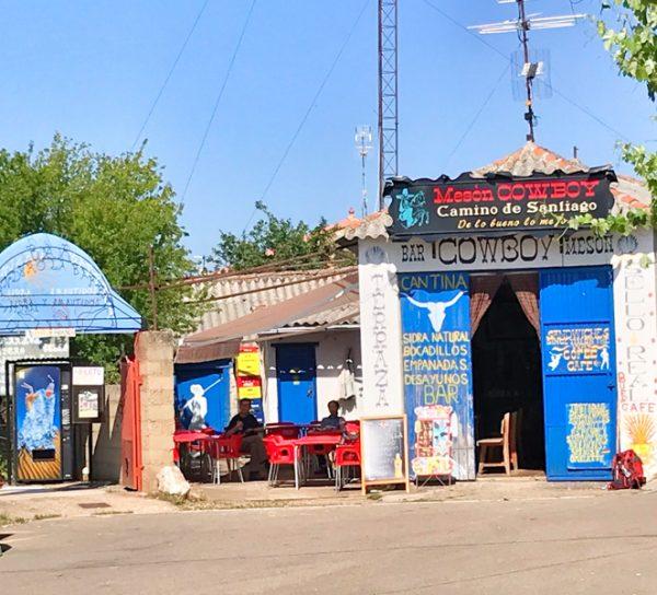 Cowboy Bar in El Ganso Walking the Camino de Santiago: Astorga to Rabanal del Camino with Camino Travel Center on eatlivetravelwrite.com