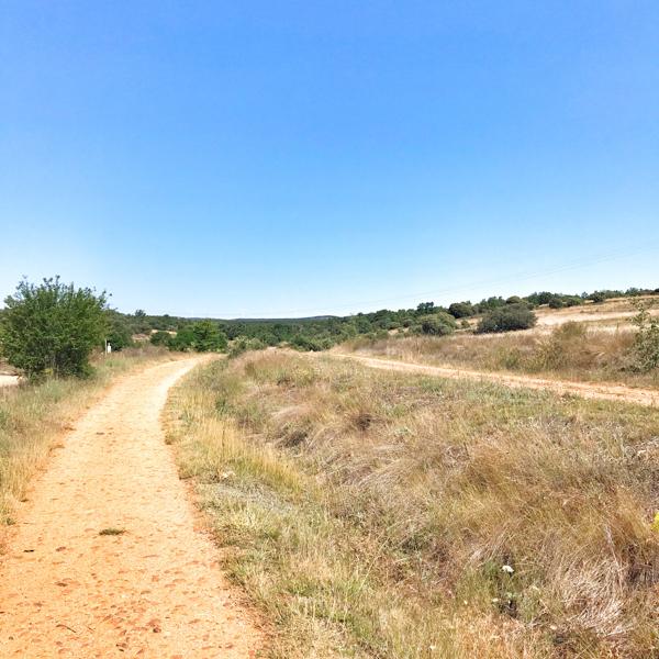 Hot day and blue skies Walking the Camino de Santiago: Astorga to Rabanal del Camino with Camino Travel Center on eatlivetravelwrite.com