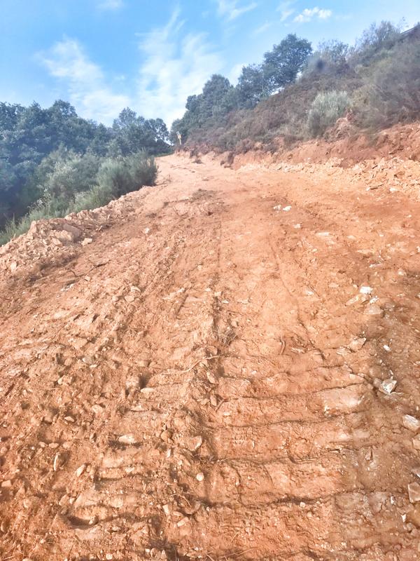 Rough path walking the Camino de Santiago: Rabanal del Camino to El Acebo with Camino Travel Center on eatlivetravelwrite.com