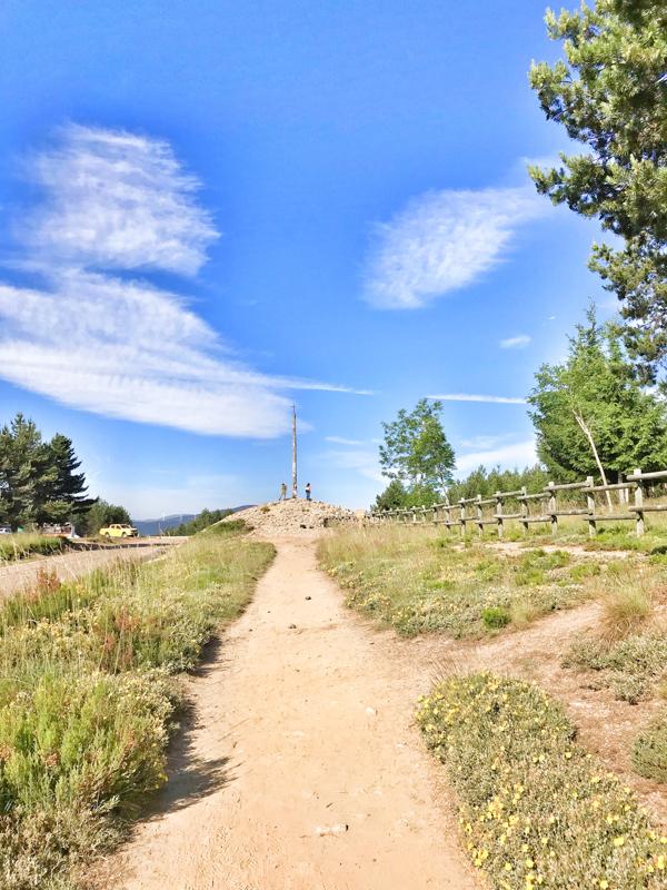 Uphill to the Cruz de Ferro walking the Camino de Santiago: Rabanal del Camino to El Acebo with Camino Travel Center on eatlivetravelwrite.com