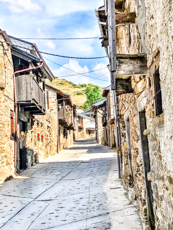 Streets of El Acebo walking the Camino de Santiago: Rabanal del Camino to El Acebo with Camino Travel Center on eatlivetravelwrite.com