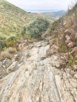 Rough terrain Walking the Camino de Santiago: El Acebo to Ponferrada with Camino Travel Center on eatlivetravelwrite.com
