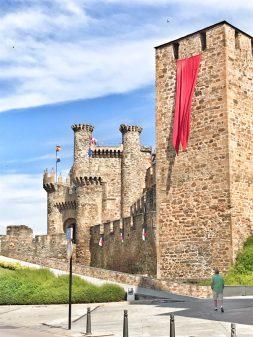 Arriving at castle in Ponferrada Walking the Camino de Santiago: El Acebo to Ponferrada with Camino Travel Center on eatlivetravelwrite.com