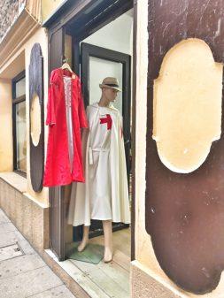 Knights Templar clothes in Ponferrada Walking the Camino de Santiago: El Acebo to Ponferrada with Camino Travel Center on eatlivetravelwrite.com