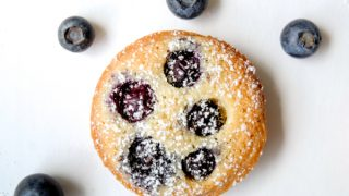 Blueberry almond tartlets