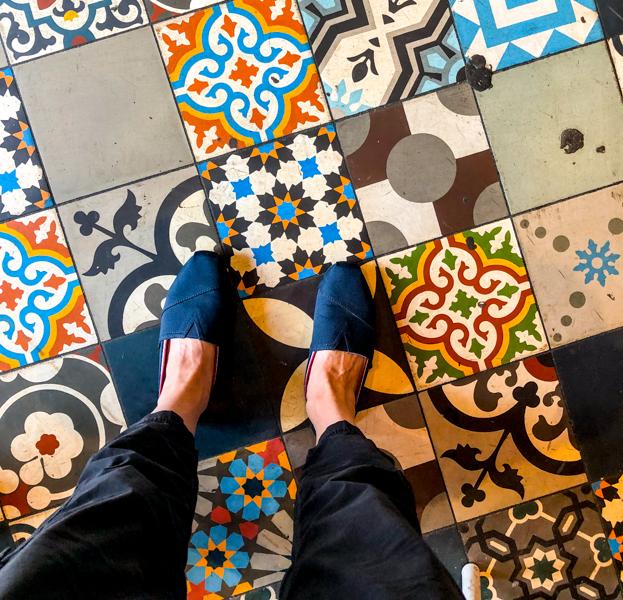 Gorgeous tiled floors on Delicious Dublin tours on eatlivetravelwrite.com