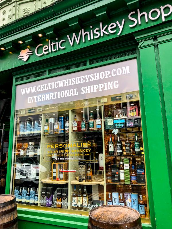 Celtic Whiskey Shop on Delicious Dublin tours on eatlivetravelwrite.com