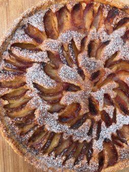 Plum and almond cream tart on eatlivetravelwrite.com