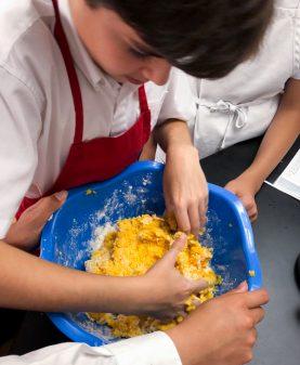 Kids making Jamie Oliver's Squash Gnocchi from #jamiesveg on eatlivetravelwrite.com